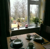 Breakfast overlooking Steam Railway at 3Quarters Bed and Breakfast, Swanage