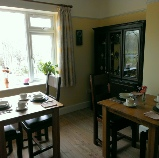 Breakfast overlooking Swanage Railway at 3Quarters Bed and Breakfast, Swanage